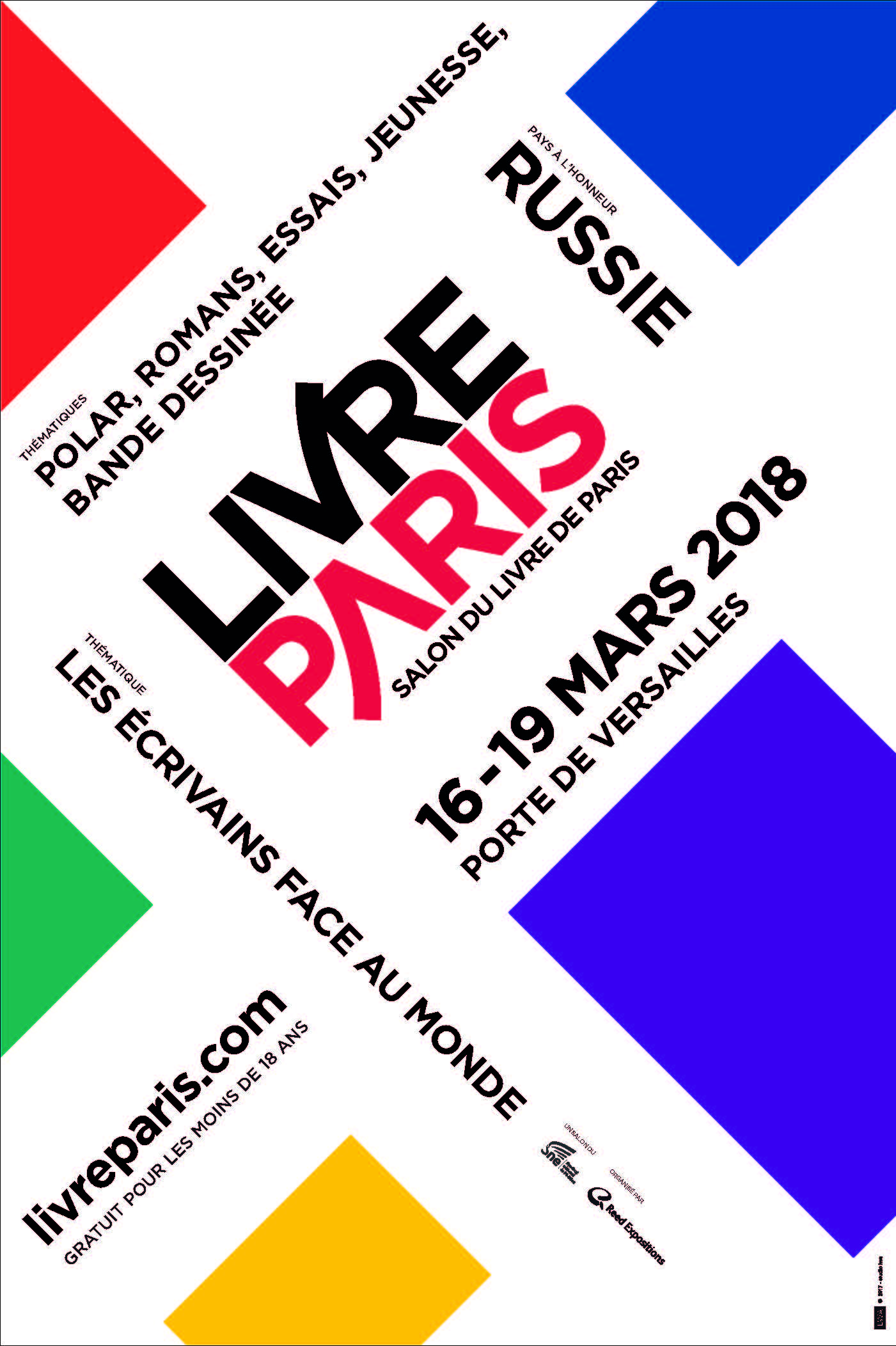 Les lettres russes l 39 honneur du salon livre paris 2018 for Salon 2018 france