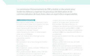 thumbnail of Sept suggestions pour devenir un éditeur éco-responsable