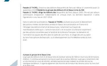 thumbnail of SNE_GroupeArtetBeauxLivres_CP_ElectionPrésident_14Septembre2018