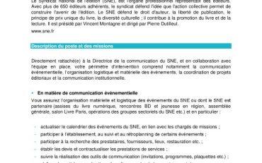 thumbnail of SNE – Annonce – Contrat d'apprentissage – Chargée de communication événementielle